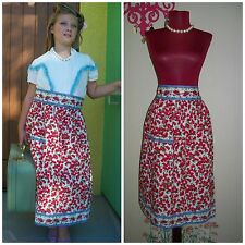 Womens Mid Century Style Cherry Retro 50's Look Iconic Lucy Cotton Apron
