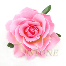 Rose Flower Corsage Hair Clips Wedding Bridesmaid Prom Festival Hairpin Brooch