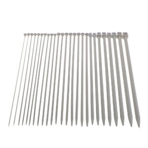 26pcs Stainless Steel Single Pointed Knitting Needles Set Kits 2.0 to 10.0mm