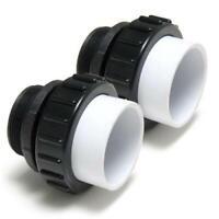 "2 PACK Hi-Temp Union Pool Pump 2"" MPT x 2"" Slip PVC For IntelliFlo WhisperFlo"