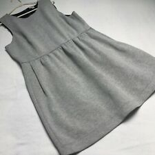 J Crew Gray Jumper Dress Pockets Cotton Thick Sleeveless size XXL