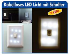 LED Licht Leuchte Wandlicht Nachtlicht Batterie Notlicht  Schalter Schranklicht
