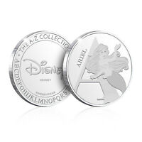 Disney A - Z Personalised Gifts Collectable Alphabet Silver Coin Collection