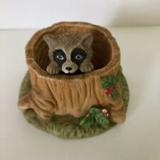 Woodland Surprises Porcelain Raccoon Franklin Mint 1984 Jacqueline B Smith VTG