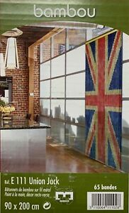 Door Curtain Flies Design Deco Insects Bamboo London Union Jack Sizes 90x200cm