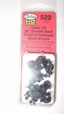 "Kadee #522 HO Scale Metal Code 110 36"" Smooth Back Wheels Freight & Passenger"