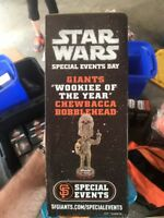 NIB Chewbacca Wookiee San Francisco Giants Star Wars Bobblehead Special Event