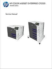 HP Color LaserJet Enterprise CP5520 Printer Service Manual(Parts & Diagrams)