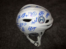 COLUMBUS BLUE JACKETS 2018 Team SIGNED Hockey Helmet w/COA Bobrovsky Atkinson +