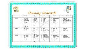Childminder/ Teacher *CLEANING SCHEDULE A4 POSTER* readymade EYFS childminding
