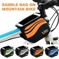 Cycling Bike Bicycle Frame Front Top Tube Bag Phone Holder Case Pouch