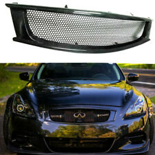 Carbon Fiber Front Mesh Grill Grille for 2008-2013 Infiniti G37 Coupe Type AC