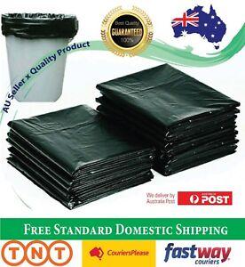 Garbage Bags Black Heavy Duty Kitchen Rubbish Bin Liners Large Plastic Trash Bag