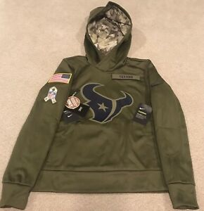 Nike Houston Texans Salute to Service Therma Hoodie Womens Size S AA9938-395