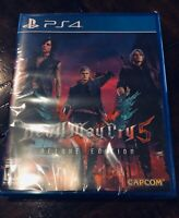 Devil May Cry 5 Deluxe Edition PS4 Brand New Factory Sealed PlayStation 4 Rare