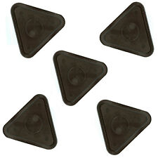 5 Small Black Triangle Air Pucks for Table Hockey 2.5 Inch Diameter