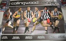 Collingwood FC : 6 player poster - signed by N.Buckley & 5 other legends (#2105)
