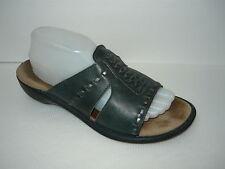 Clarks Artisan Braid Dark Green Comfort Slides Sandals Sz 10M