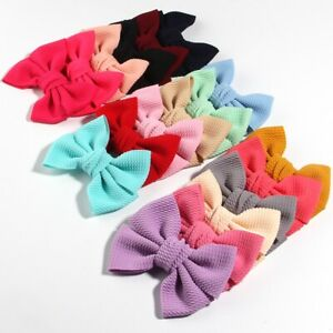 "120PCS 11CM 4.3"" Big Seersucker Waffle Hair Bows For Hair Accessories Boutique"