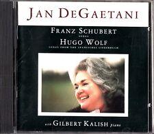 JAN DEDAETANI - Schubert & Wolf Songs CD -1991-Gilbert Kalish Piano (Nonesuch)