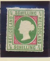 Heligoland Stamp Scott #1A, Mint Hinged, Reprint, Paper Remnants, Hinge Remnants