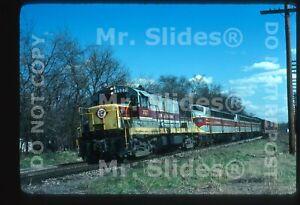 Original Slide EL Erie Lackawanna U25B 2527 & 4 Action Aurora OH 1976