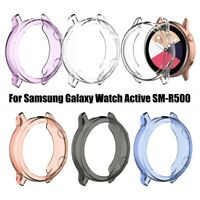 Clear TPU Watch Case Cover 40mm for Samsung Galaxy Watch Active SM-R500 5 Colors