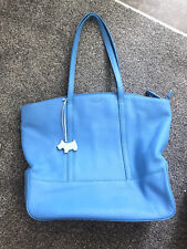 Radley Blue Soft Leather Large Handbag Bag New Without Tags Beautiful Bag