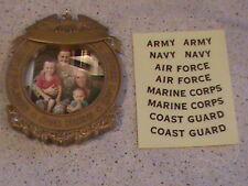 2014 Hallmark Our Hero Frame Army Navy Air Force Marine Corps & Coast Guard