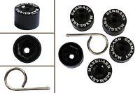 5pcs x 17mm BLACK Wheel Plastic Nut / Bolt Covers Caps Inc. Removal Tool /22047