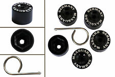 5pcs x 19mm BLACK Wheel Plastic Nut / Bolt Covers Caps Inc. Removal Tool /22047