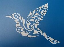 Scrapbooking - STENCILS TEMPLATES MASKS SHEET - Bird Flourish  Stencil