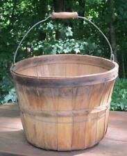 Vintage Wood Slat Fruit Bushel Basket Rustic Primitive Country Farm Decor