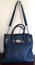 MICHAEL KORS Hamilton Large  Pebbled Leather Summer Blue Satchel Shoulder Bag