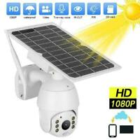Wireless Security Camera 1080P WIFI Solar Powered Waterproof 32G Memory Card