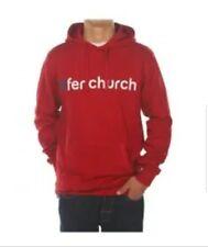 Sudadera Fenchurch Hombre Sweat Word Hood Roja / Blanca Nueva con etiquetas L