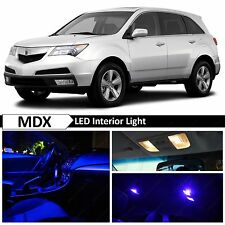 Acura MDX Blue Interior + License Plate LED Lights Package Kit