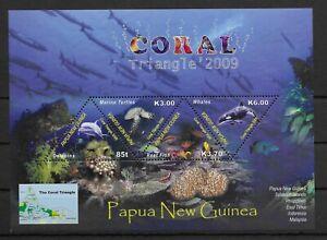 PAPUA NEW GUINEA *2009* M/Sheet (4 stamps)* MNH** Marine Life - Mi.BL83