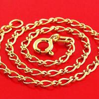 BRACELET BANGLE GENUINE REAL 14 K YELLOW VERMEIL GOLD SMALL FINE LINK DESIGN