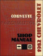 1982 Corvette Shop Manual 82 Chevrolet Chevy Repair Service Book