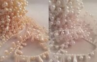 Tear Drop Pearls String Beads Sewing Trim Cake Craft Wedding Bridal