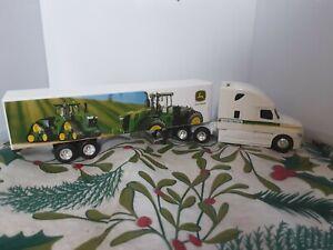 John Deere Speccast Semi Tractor cab ( die cast metal) And Trailer (plastic)1/64