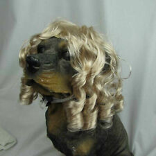 Dog Costumes Colorfull Synthetic Hair Pet Wig Lovely Pet Dog Wigs Blonde-Us