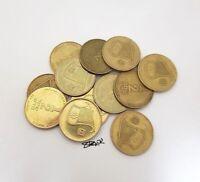 12 pcs COIN NEW Half Sheqel 1/2 Shekel Israel Israeli COINS Jewish lyre Jewish