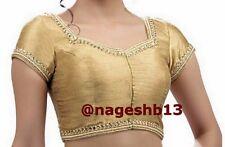 Readymade Saree Blouse, saree blouse, Gold Kundan Work Front Open Sari Blouse