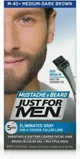Just For Men Mustache & Beard Facial Hair Color Gel MEDIUM-DARK BROWN M-40, NIB