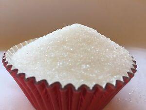 Edible White Sugar Sanding Sprinkles Confetti  cupcake cakes cookies 4oz