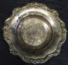 "Vintage Poole ""Old English"" Silverplate Bowl Dish Ornate Rim 5004 Antique"