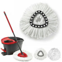 Replacement Heads Easy Cleaning Mopping Wring Spin Mop Refill Mop 360° 2/3/4X AA