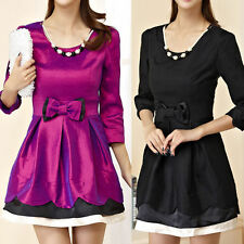 Round Neck Party 3/4 Sleeve Mini Dresses for Women